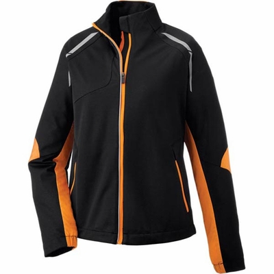 North End Women's Jacket: Lightweight Bonded Performance Hybrid w/ Reflective Piping (78654)