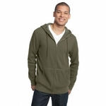 District Made Men's Sweatshirt: 100% Cotton Thermal Full-Zip Hoodie(DM330)