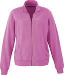North End Women's Jacket: Cotton Polyester Fleece Zip (78642)