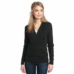 District Made Women's Sweatshirt: 100% Cotton Thermal Full-Zip Hoodie(DM430)