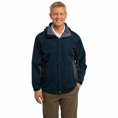Port Authority Men's Jacket: Weather-Resistant Dry Shell Hooded (J309)