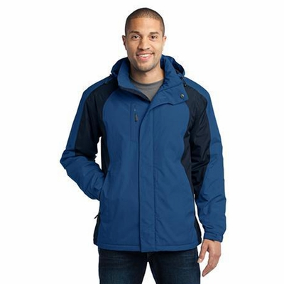 Port Authority Men's Jacket: Barrier Waterproof Shell with Zip-Off Hood (J315)