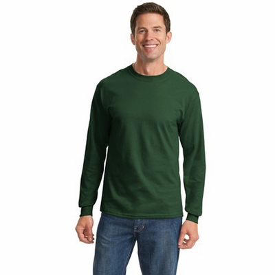 Port & Company Men's T-Shirt: 100% Cotton Essential Long Sleeve (PC61LS)