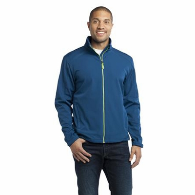 Port Authority Men's Jacket: Traverse Soft Shell with Contrast Zippers (J316)