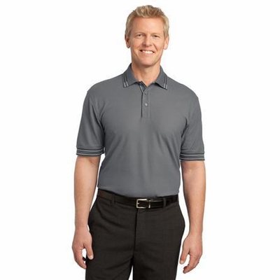 Port Authority Men's Polo Shirt: Silk Touch Tipped (K502)