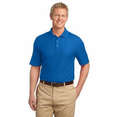 Port Authority Men's Polo Shirt: Wrinkle Resistant Tactical Silk Touch (K505)