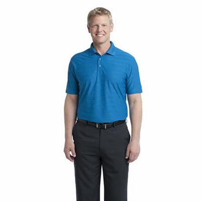 Port Authority Men's Polo Shirt: Horizontal Texture with Moisture Wicking (K514)