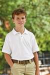 Harriton Youth Polo Shirt: 100% Cotton Ringspun Pique Short-Sleeve (M200Y)
