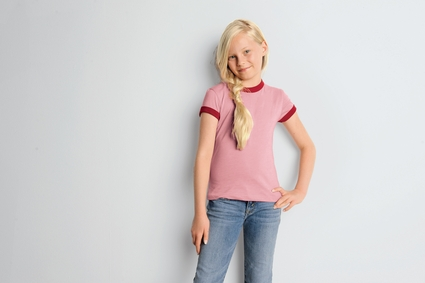 Bella Girl's T-Shirt: 4.2 oz. Heather Jersey Ringer (9050)