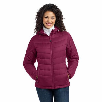 Port Authority Women's Jacket: Mission Hooded Puffy (L313)