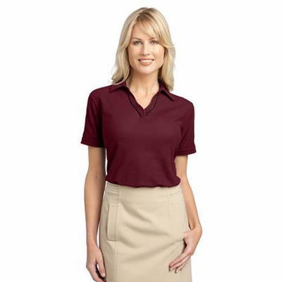 Port Authority Women's Polo Shirt: Silk Touch Piped (L502)