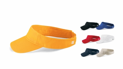 Champion Visor: 100% Cotton Velcro Closure Athletic (C7000)