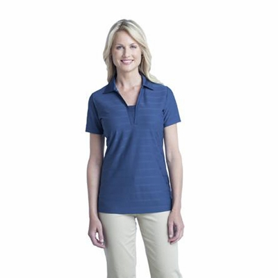 Port Authority Women's Polo Shirt: Horizontal Texture w/ Moisture Wicking(L514)