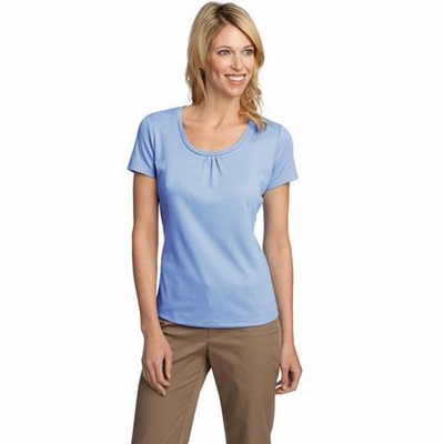 Port Authority Women's T-Shirt: Silk Touch Interlock Scoop Neck (L522)