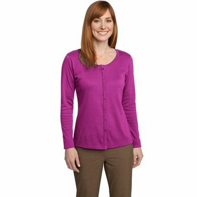 Port Authority Women's Cardigan: Silk Touch Interlock (L530)