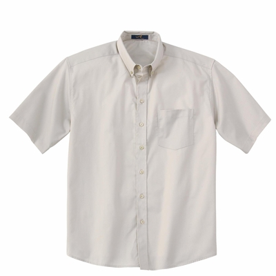 Ash City Men's Twill Shirt: Easy Care Short Sleeve Tall with UV Protection (87016T)