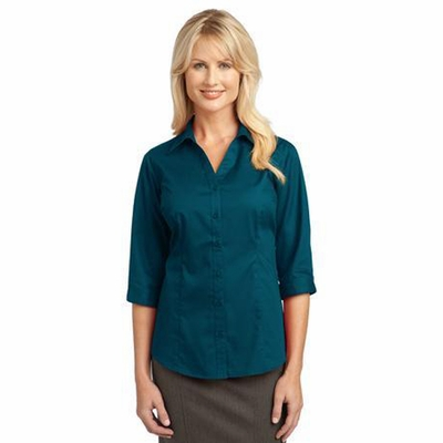 Port Authority Women's Woven Shirt: 3/4-Sleeve Blouse (L6290)