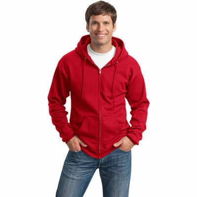 Port & Company Men's Sweatshirt: 7.8-Oz Full-Zip Hooded (PC78ZH)