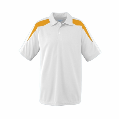 Augusta Sportswear Men's Polo Shirt: 100% Polyester Mesh Textured Colorblock Sport (5086)