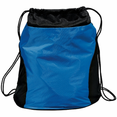 Port Authority Cinch Sack: Nylon Two-Toned with Mesh Top (BG83)