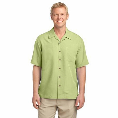 Port Authority Men's Camp Shirt: Easy Care Patterned with Pocket (S536)