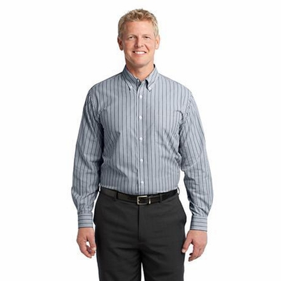 Port Authority Men's Woven Shirt: Vertical Stripe Easy Care Button Down (S643)