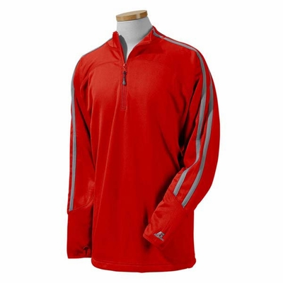 Russell Athletic Men's Jacket: 100% Polyester Tech Fleece Quarter-Zip Cadet (8TPEFM)