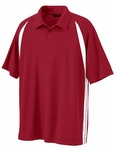North End Men's Polo Shirt: Shaped Raglan Sleeve Color Block Pique (85053)