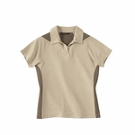 North End Women's Polo Shirt: Sport Bamboo Charcoal Two-Tone Jacquard (78624)