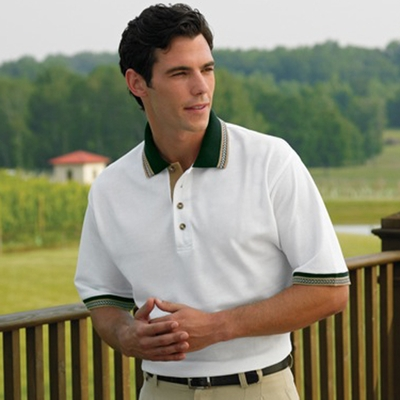 Jonathan Corey Men's Polo Shirt: Pique With Arrowhead (509)