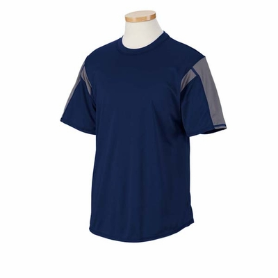 Russell Athletic Men's T-Shirt: 100% Polyester Performance Colorblocked Short Sleeve (6B2DPM)