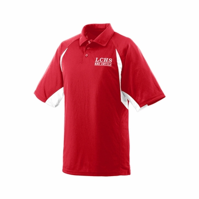 Augusta Sportswear Men's Polo Shirt: 100% Polyester Colorblock Textured Sport Raglan Sleeve (5090)