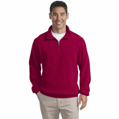 Port Authority Men's Jacket: Flatback Rib 1/4-Zip Pullover (F220)
