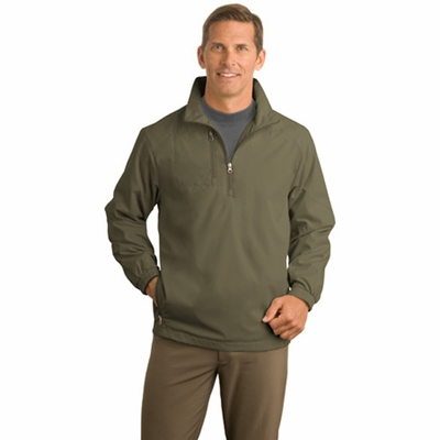 Port Authority Men's Wind Jacket: 1/2-Zip (J703)