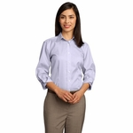 Red House Women's Dress Shirt: 100% Cotton 3/4-Sleeve Dobby Non-Iron Button-Down (RH61)