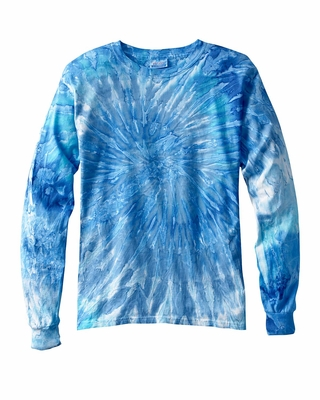 Tie-Dye Men's T-Shirt: 100% Cotton Long-Sleeve Tie-Dyed (CD2000)