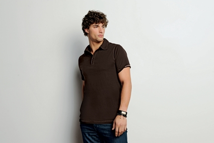 Canvas Men's Polo Shirt: 100% Cotton Hudson Three-Button (3855)