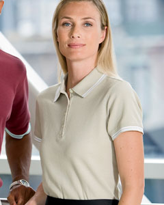 Chestnut Hill Women's Polo Shirt: 100% Cotton Tipped Performance Plus Pique (CH113W)