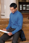 Chestnut Hill Men's Mock Turtleneck: 100% Pima Cotton (CH230)