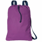 Port Authority Cinch Sack: 100% Cotton Canvas Pocketed with Webbing Straps (B119)