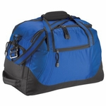 Port Authority Duffel Bag: Honeycomb Poly Two-Toned with Shoe Pocket (BG113)