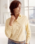 Devon & Jones Women's Twill Shirt: 100% Cotton Long-Sleeve Titan (D500W)