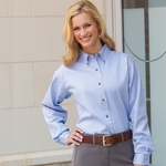 Jonathan Corey Women's Twill Shirt: Heavyweight Washed (612)