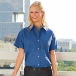 Jonathan Corey Women's Twill Shirt: Short Sleeve Brushed (625)