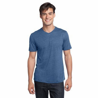 District Young Men's T-Shirt: Textured Notch Crewneck(DT172)
