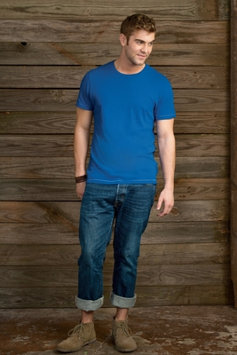 alternative Men's T-Shirt: 100% Cotton Contrast Stitch (AA1040)