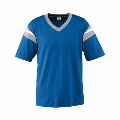 Augusta Sportswear Youth Football Jersey: 50/50 Vintage Contrast Football V-Neck (667)