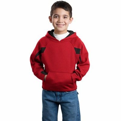 Sport-Tek Youth Sweatshirt: Color-Spliced Pullover Hooded (Y266)