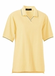 Ash City Women's Polo Shirt: 100% Cotton Variegated Ribbon Pique With Johnny Collar (125226)