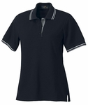 Ash City Women's Polo Shirt: 100% Cotton Double Striped Collar Pique (125294)